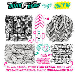 How to THINK when you draw BASKET WEAVES QUICK TIP