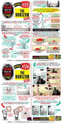 How to THINK when you draw THE HORIZON tutorial!