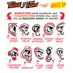 How to THINK when you draw EARS QUICK TIP!