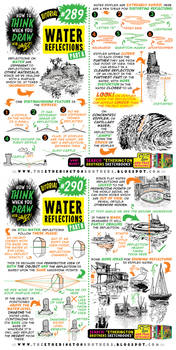 How to THINK when you draw WATER REFLECTIONS!