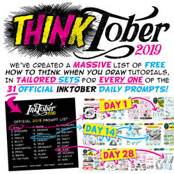 Tutorials for EVERY DAILY PROMT for INKTOBER 2019!