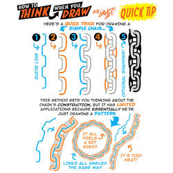 How to THINK when you draw CHAINS QUICK TIP!