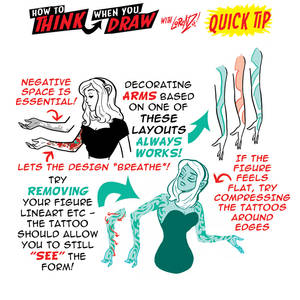 How to THINK when you draw TATTOOS QUICK TIP!