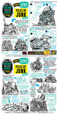 How to THINK when you draw PILES OF JUNK tutorial!