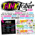 TUTORIALS for EVERY DAY OF INKTOBER!!!!