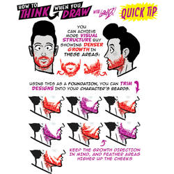 How to THINK when you draw BEARDS QUICK TIP!