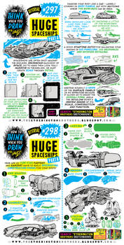 How to THINK when you draw HUGE SPACESHIPS!!