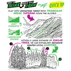How to THINK when you draw FORESTS QUICK TIP!