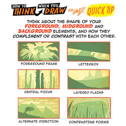 How to THINK when you use FORE-Mid-BACKGROUND TIP!