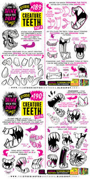 How to THINK when you draw CREATURE THEETH!