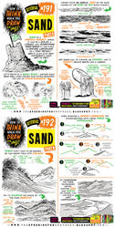 How to THINK when you draw SAND tutorial!