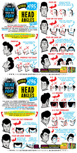How to THINK when you draw HEAD ANGLES tutorial!