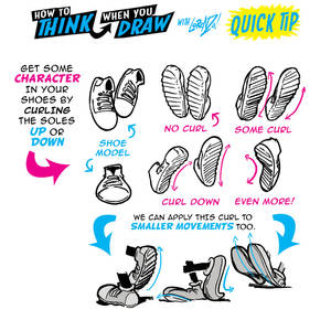 How to THINK when you draw SHOES QUICK TIP!