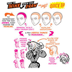 How to THINK when you draw HAIRLINES QUICK TIP!