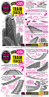 How to THINK when you draw TRAIN TRACKS tutorial!