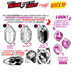 How to THINK when you draw CRYSTAL and GEMS TIP!