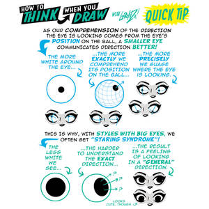 How to THINK when you draw EYES QUICK TIP!