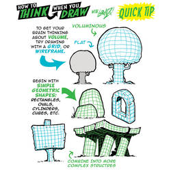 How to THINK when you draw IN 3D QUICK TIP!