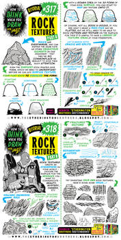 How to THINK when you draw ROCK TEXTURES tutorial!