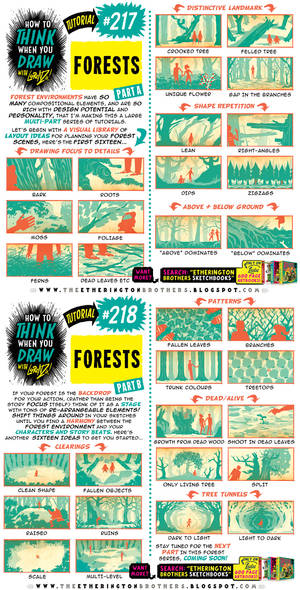How to THINK when you draw FORESTS (part 1 of 4!)