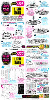 How to THINK when you draw LIGHT RAIN tutorial!
