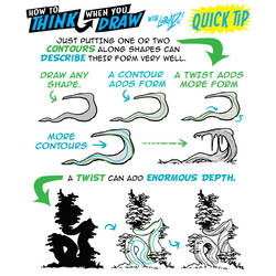 How to THINK when you draw FORM with a TWIST!
