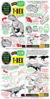 How to THINK when you draw T-REX tutorial!