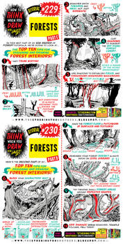 How to THINK when you draw FORESTS (part 2 of 4!)
