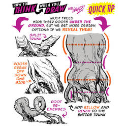 How to THINK when you draw TREE ROOTS QUICK TIP!