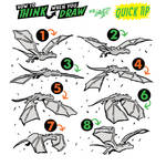 How to THINK when you draw FLYING DRAGONS TIP!