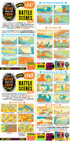 How to THINK when you draw BATTLE SCENES tutorial!