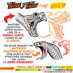 How to THINK when you draw SNAKES QUICK TIP!