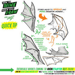 How to THINK when you draw DRAGON WINGS QUICK TIP!