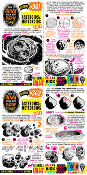 How to THINK when you draw ASTEROIDS + METEOROIDS!