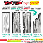 How to THINK when you draw WOOD QUICK TIP!