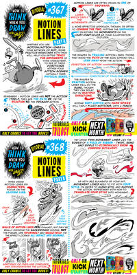 How to THINK when you draw MOTION LINES tutorial!
