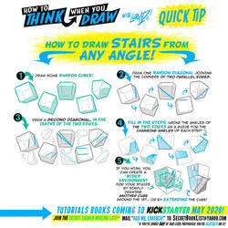 How to THINK when you draw STAIRS QUICK TIP!