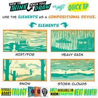 How to THINK when you draw WEATHER COMPOSITION TIP