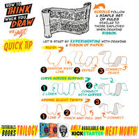 How to THINK when you draw SCROLLS QUICK TIP!