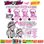 How to THINK when you draw GOGGLES QUICK TIP!