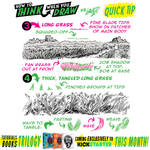 How to THINK when you draw GRASS QUICK TIP!