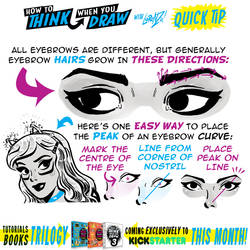 How to THINK when you draw EYEBROWS QUICK TIP!