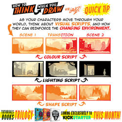 How to THINK when you draw VISUAL SCRIPTS TIP!