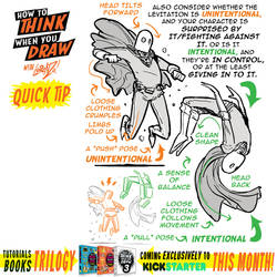 How to THINK when you draw FLOATING CHARACTERS TIP