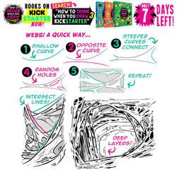 QUICK WAY to draw WEBS! 7 DAYS left on KICKSTARTER