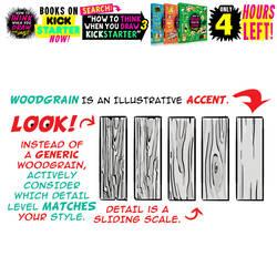 WOODGRAIN! 4 HOURS LEFT to get my tutorials BOOKS!