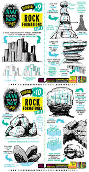 How to THINK when you draw ROCK FORMATIONS!