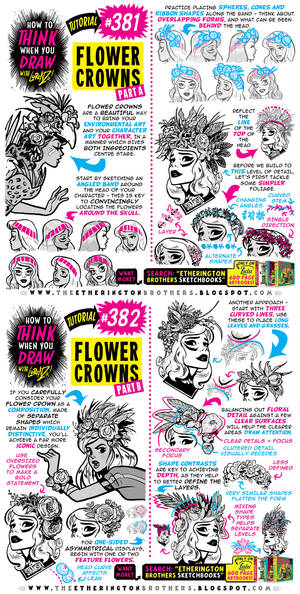 How to THINK when you draw FLOWER CROWNS tutorial!