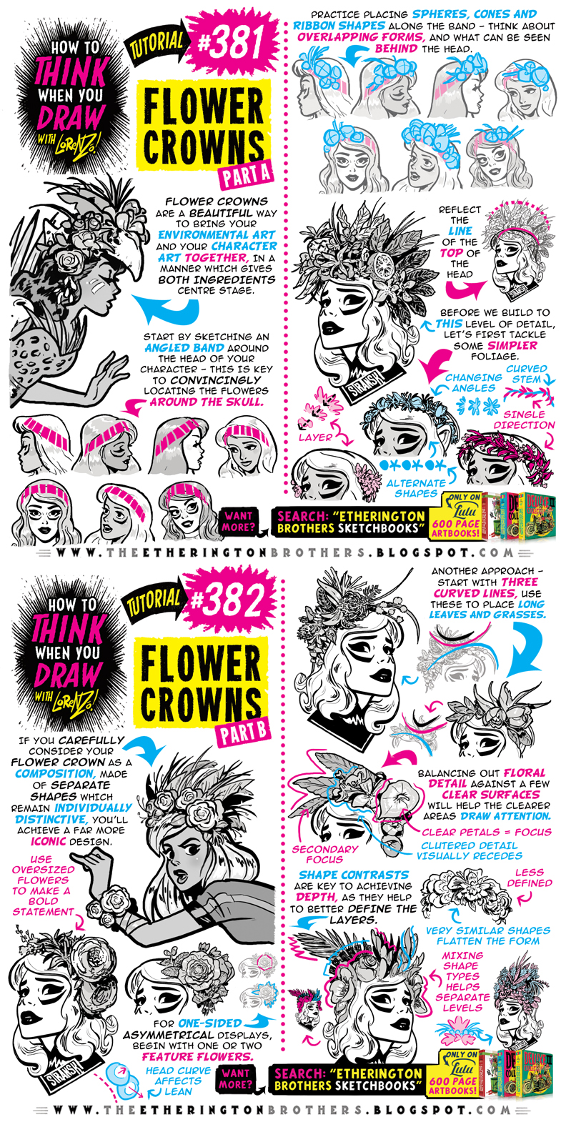 How To Think When You Draw Flower Crowns Tutorial By Etheringtonbrothers On Deviantart
