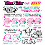 How to THINK when you draw MONSTER HEADS QUICK TIP